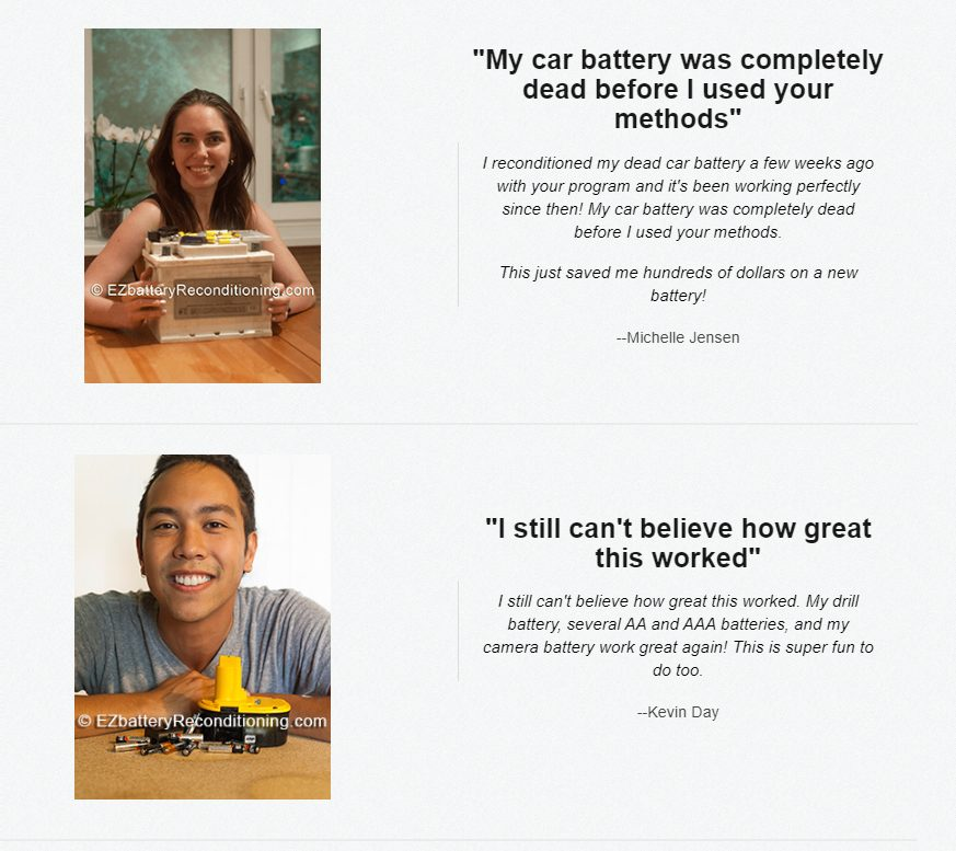 EZ BAttery Reconditioning Customer Reviews