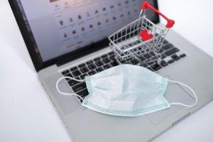 Online shopping concept,Mask Concept.