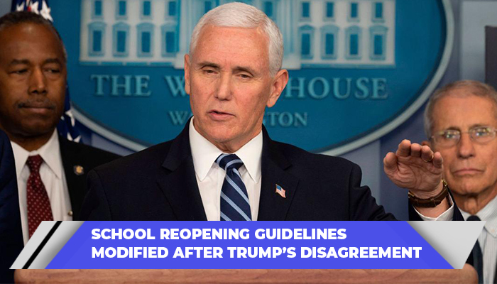School Reopening Guidelines Modified After Trump's Disagreement
