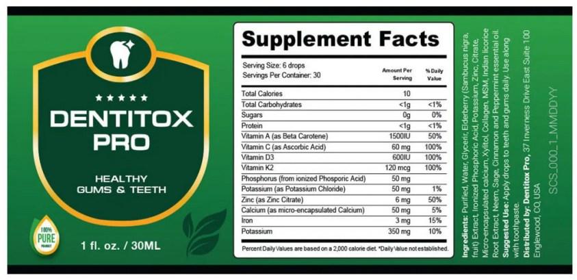 Dentitox Pro reviews dosage
