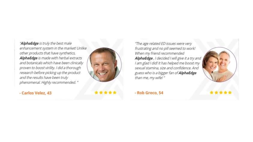 Alpha Edge Male Enhancement supplement Customer Reviews