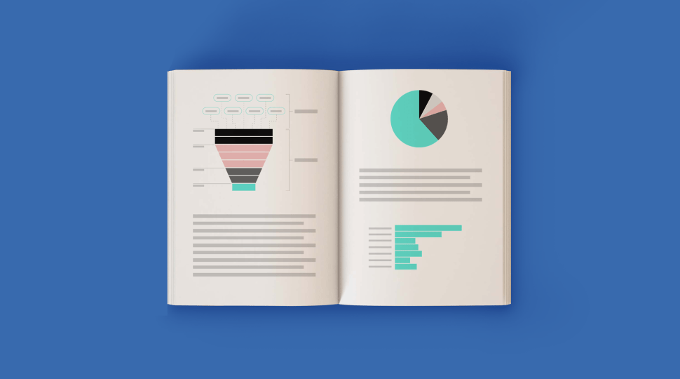 A book with different types of charts in it