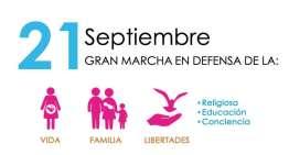 "Lista, la ""Marcha por la Vida y la Familia de México"""