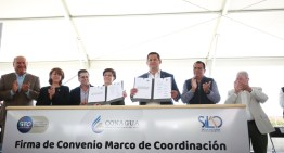 Firman convenio de coordinación para el cuidado y suministro del agua