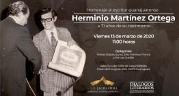 Rinden homenaje al Escritor Herminio Martínez Ortega