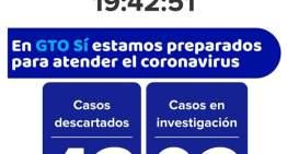 Hay 4 casos de coronavirus en el Estado de Guanajuato
