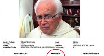 Confirmado: El Obispo Raúl Vera López dio positivo al COVID-19