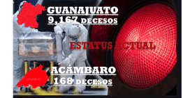 Guanajuato tiene 9,167 decesos por pandemia , Acámbaro llega a los 168