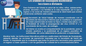 Los alumnos de Guanajuato mantendrán las clases a distancia