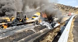 Trágico accidente en la autopista De Occidente México-Guadalajara a la altura de Zinapécuaro.