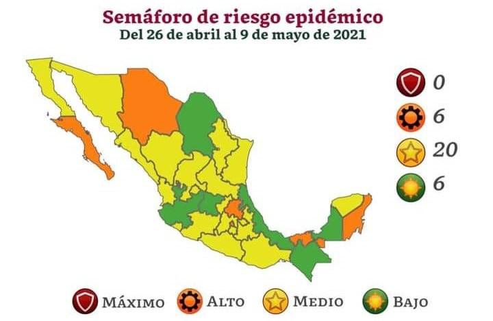Semáforo epidémico federal:  Hasta el 9 de mayo, Guanajuato seguirá en color verde