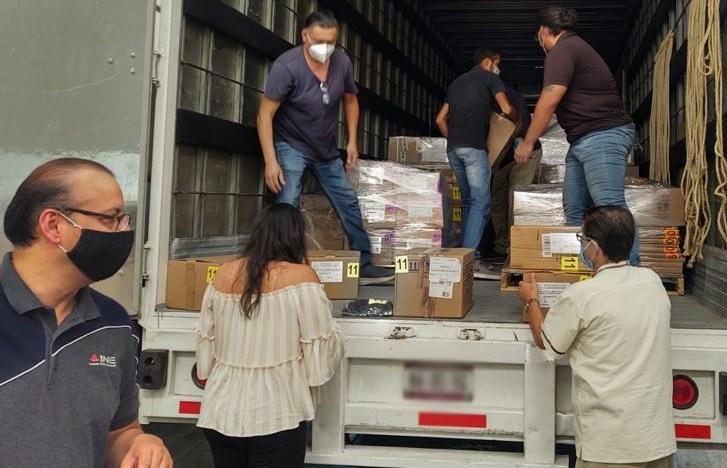 Recibe INE Guanajuato  4, 957, 511 boletas para la elección del 6 de junio