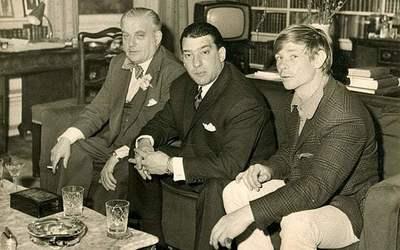 Boothby et Reggie Kray, en compagnie de Leslie Holt