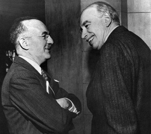 John Maynard Keynes (à droite)
