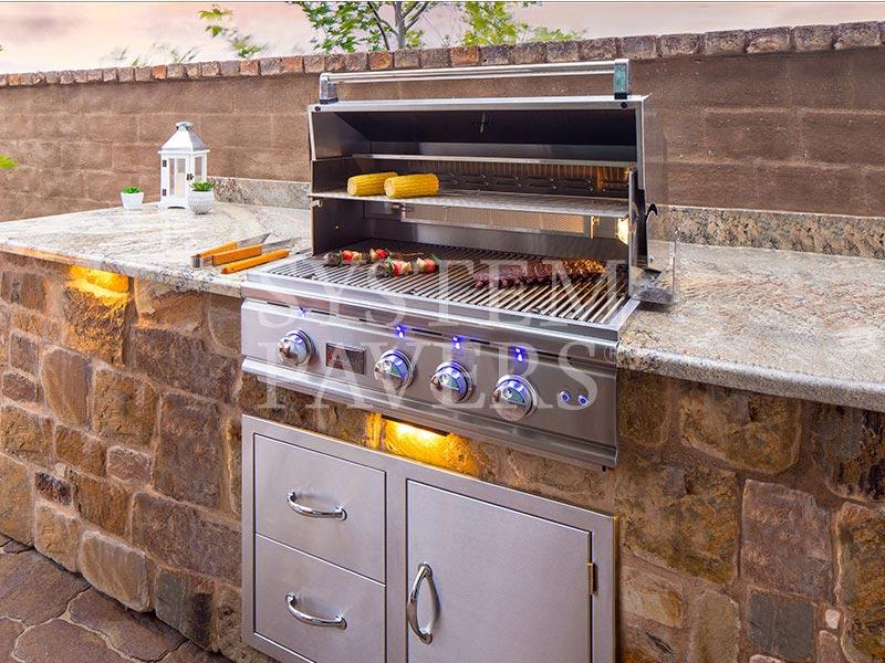 BBQ Islands: Custom Built-In Outdoor Grills & Barbecue Islands on Backyard Patio Grill Island id=93102