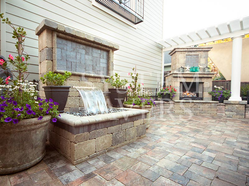 Wall Water Features: Outdoor Backyard Garden & Wall Water ... on Backyard Feature Walls id=93983