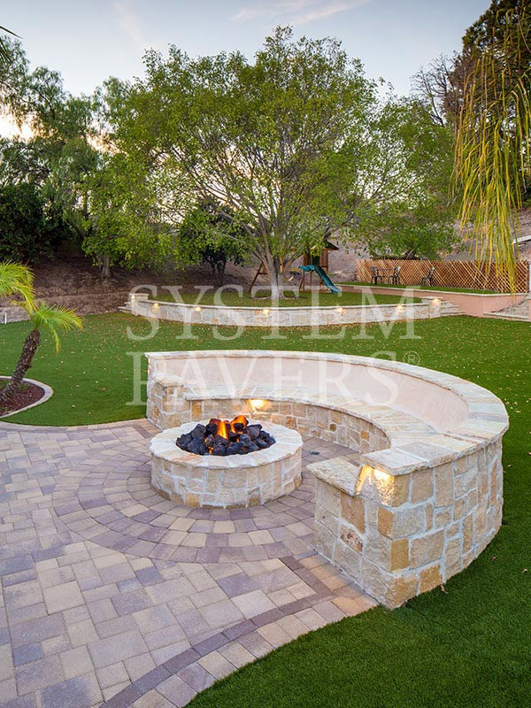 Patio Pavers: Backyard Pavers & Elegant Patio Solutions on Pavers Patio With Fire Pit id=48565