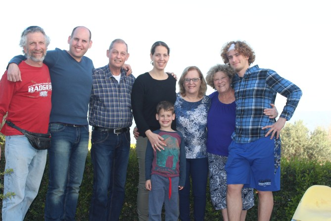 My family with cousins Pelon, Eli and their son Guy, his wife Dana, and son Tomer