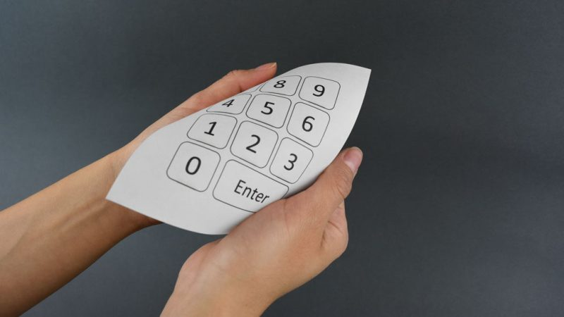The paper pocket keyboard
