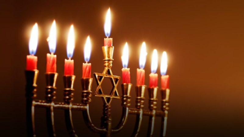 The famous candlestick symbol of Hanukkah. Credits: History.com