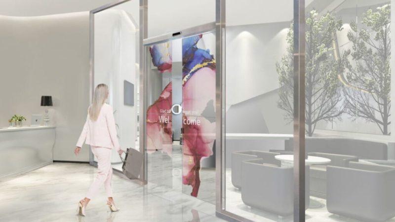 LG OLED screens used as sliding doors. Credits: LG Electronics