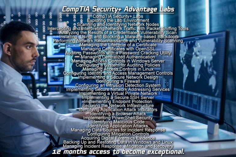 Free CompTIA Security+ Labs for the SY0-601 course and exam