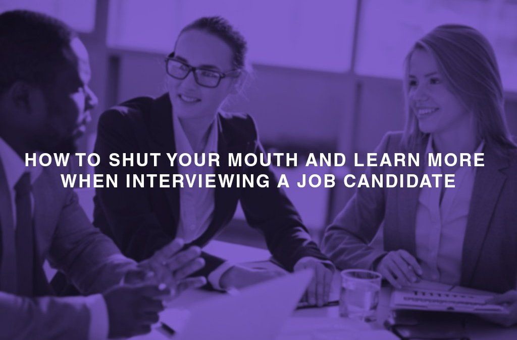 How to shut your mouth and learn more when interviewing a job candidate - people sitting at the office desk