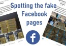 Avoid the scam Facebook pages – look for the blue tick