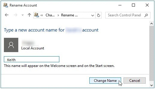 Change the Local Account Name on Windows 10 PC-6