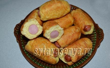 Сосиски в тесте жареные на сковороде рецепт с фото