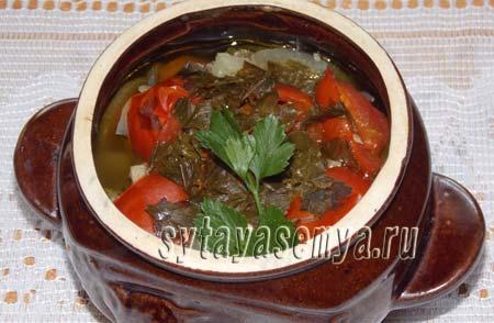 Курица с овощами в горшочке в духовке рецепт с фото