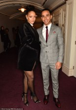 Rihanna and Lewis, 30, pictured together at the British Fashion Awards in December 2014, have reportedly been enjoying secret dates