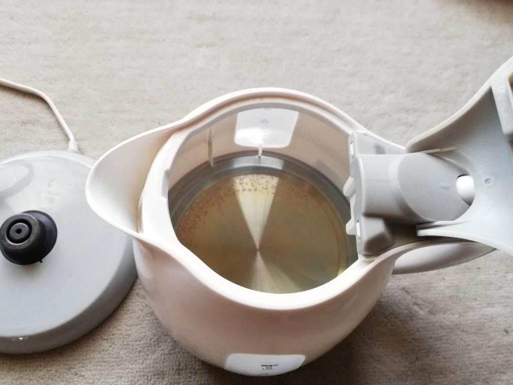 ヒロ・コーポレーション 電気ケトル 1.0L コンパクト グレー KTK-300-G中の画像
