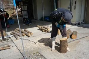 原木キノコの準備