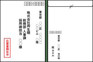 封筒の書き方、採用担当宛の画像