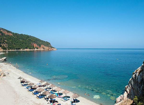Skopelos tengerpartja