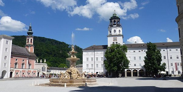 Mozart főtér Salzburg