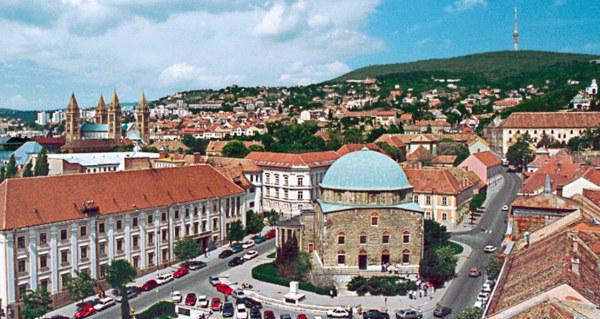 Pécs képeslap régebben