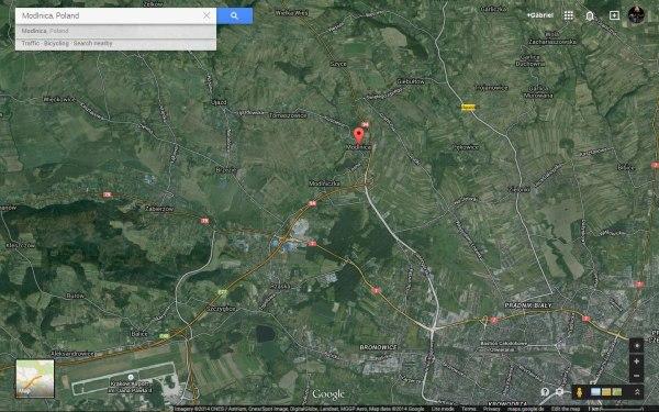 Modlnica térkép GoogleMaps műholdkép