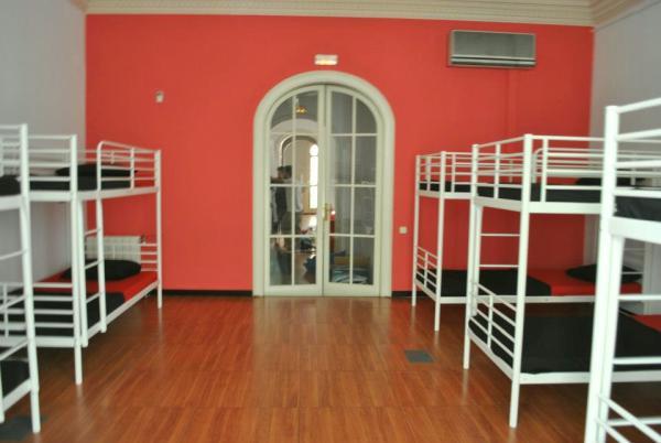 Fabrizzios Terrace Youth Hostel ágyak