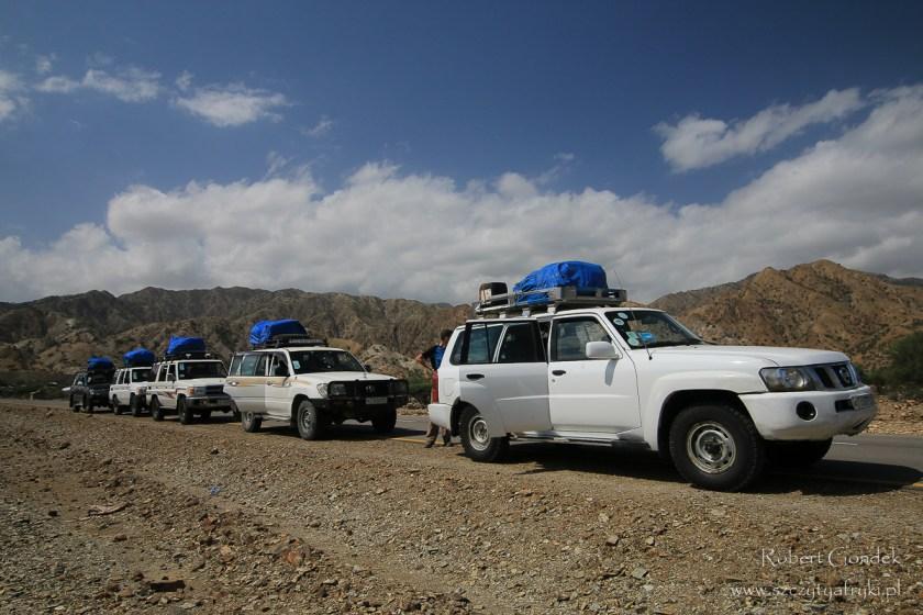 Etiopia - Kotlina Danakilska - Konwój