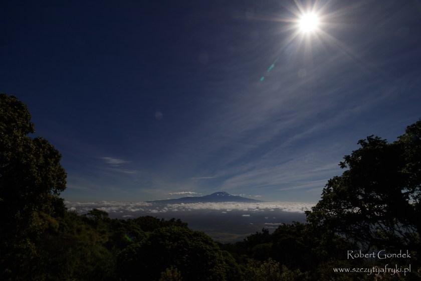 Kilimandżaro - widok z drogi na Mount Meru