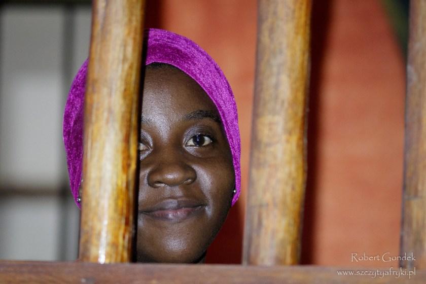 Portret kelnerki w Jambiani
