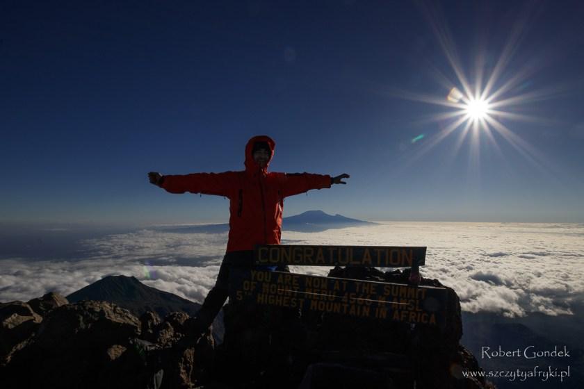 Mount Meru w Tanzanii - drugie wejście na szczyt