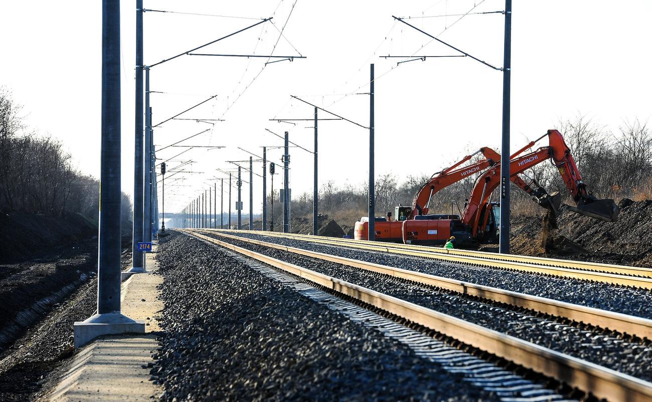 vasút építés