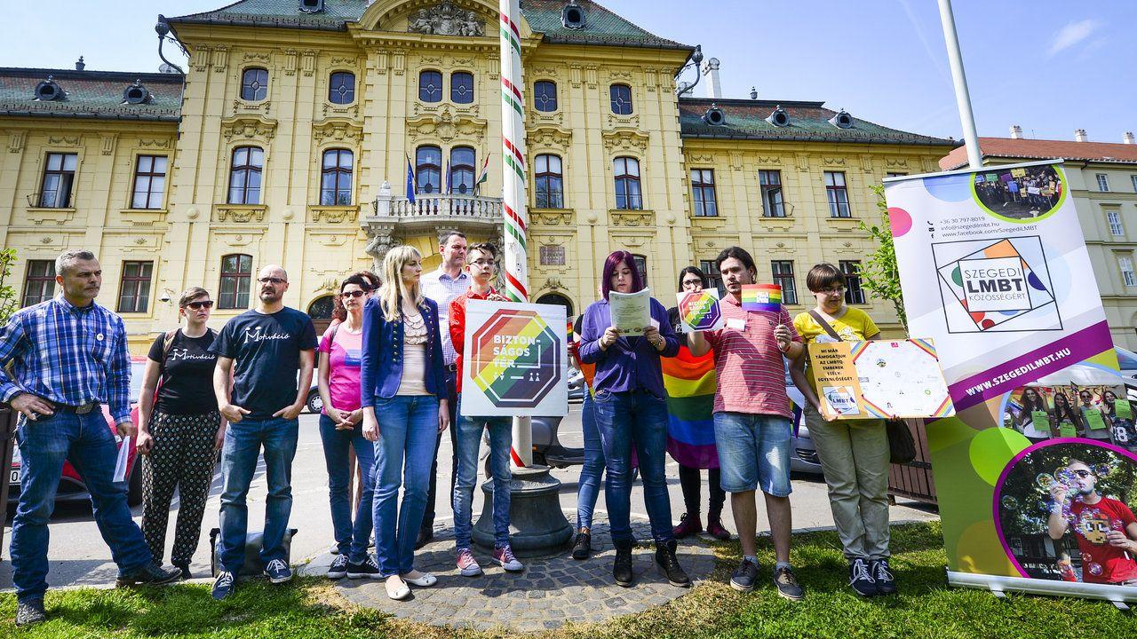 Szegedi LMBT Közösségért Csoport városháza f karnok csaba dm