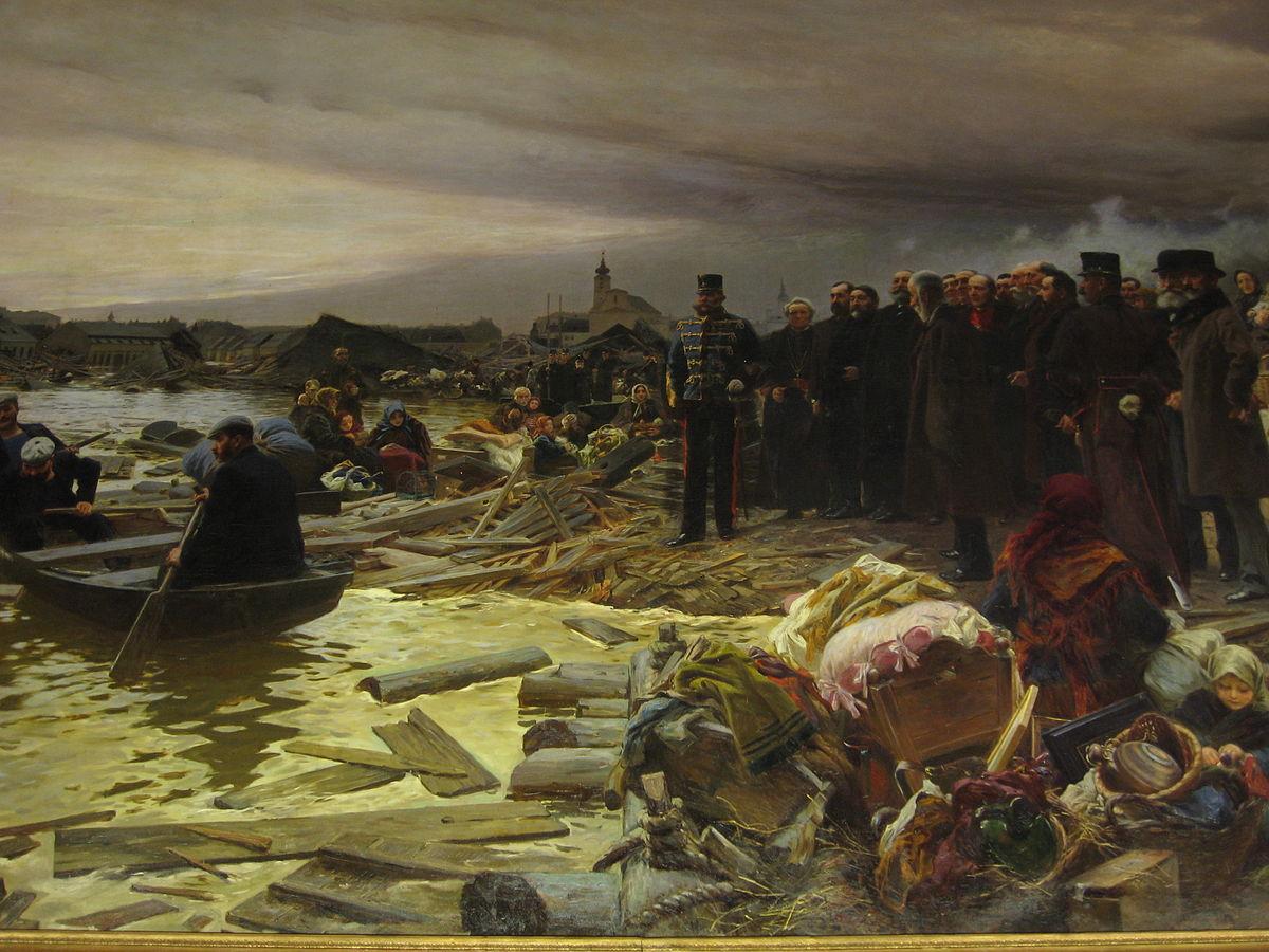 vágó pál szeged árvíz festmény fotó Somorjai Ferenc