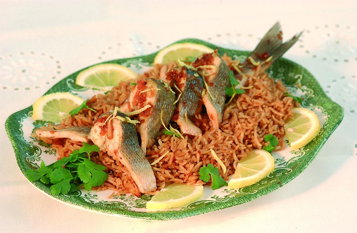 Egyiptomi főtt hal - Sayadeyah