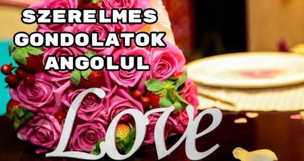 Szerelmes gondolatok angolul