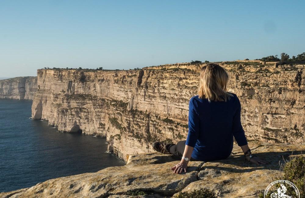 Malta atrakcje, klify